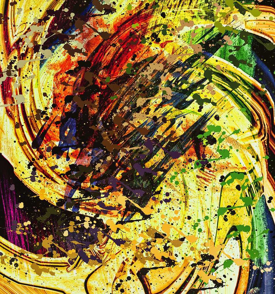 Abstract 12 - a complex, but colorful, and decorative, pure abstract, piece of fine art by Gottfried, Berlin