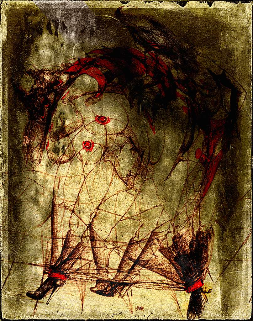 Dark Erotic 1 - an expessionist work by fine artist Gottfried, Berlin