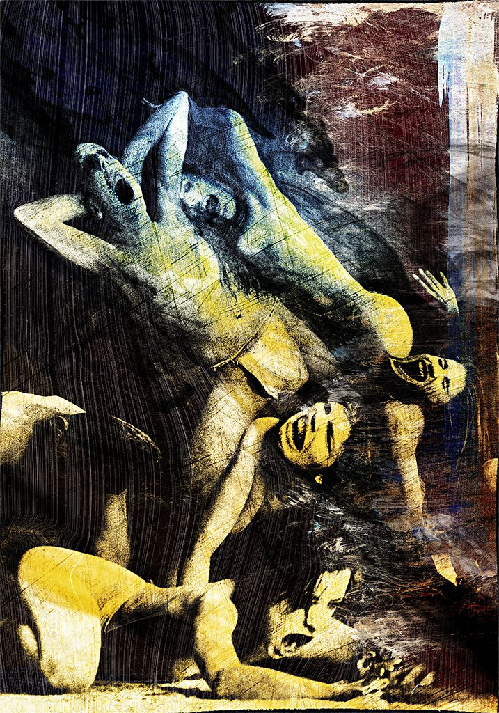 Rapture Or Rage - art, fine art by fine artist Gottfried, Berlin - agony or ecstasy, tormented souls, depravity or despair