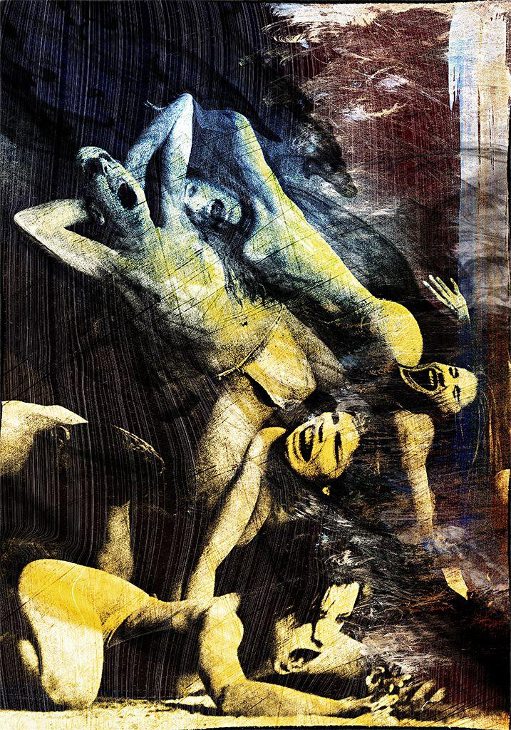 Rapture Or Rage - art, fine art by fine artist Gottfried, Berlin - agony or ecstasy, tormented souls, depravity or despair