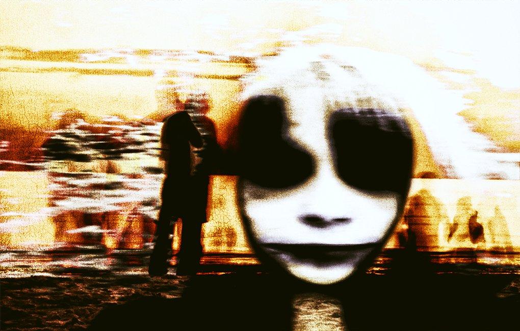 surreal expressionist work depicting an alien apparition, eine ausserirdische Erscheinung